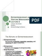 7-Entrepreneurship and New Venture Management