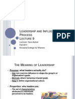 Leadership and influence process
