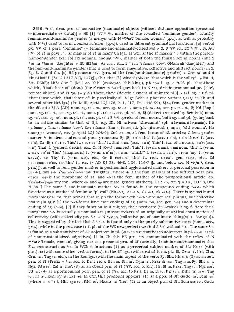 168)NDR-T1 | Grammatical Gender | Plural