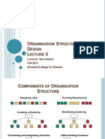 5-Organisation Structure and Design