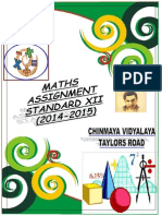 Xii Maths Assignment CBSE 2014-2015