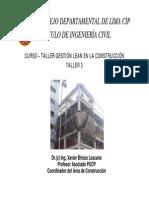 TALLER 3 SECTORIZACIÓN - TREN - BRIOSO 2013