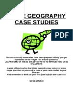 GCSE Geography case studies