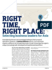 Right Time, Right Place - Selecting the Right Business Leaders for Asia