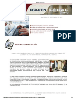 Boletin Legal Diario 100913