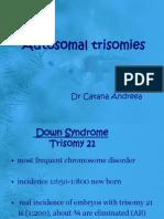 autosomal trisomies