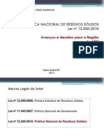 Consorcio realiza Apresentacao Politica Nacional de Residuos Seminario