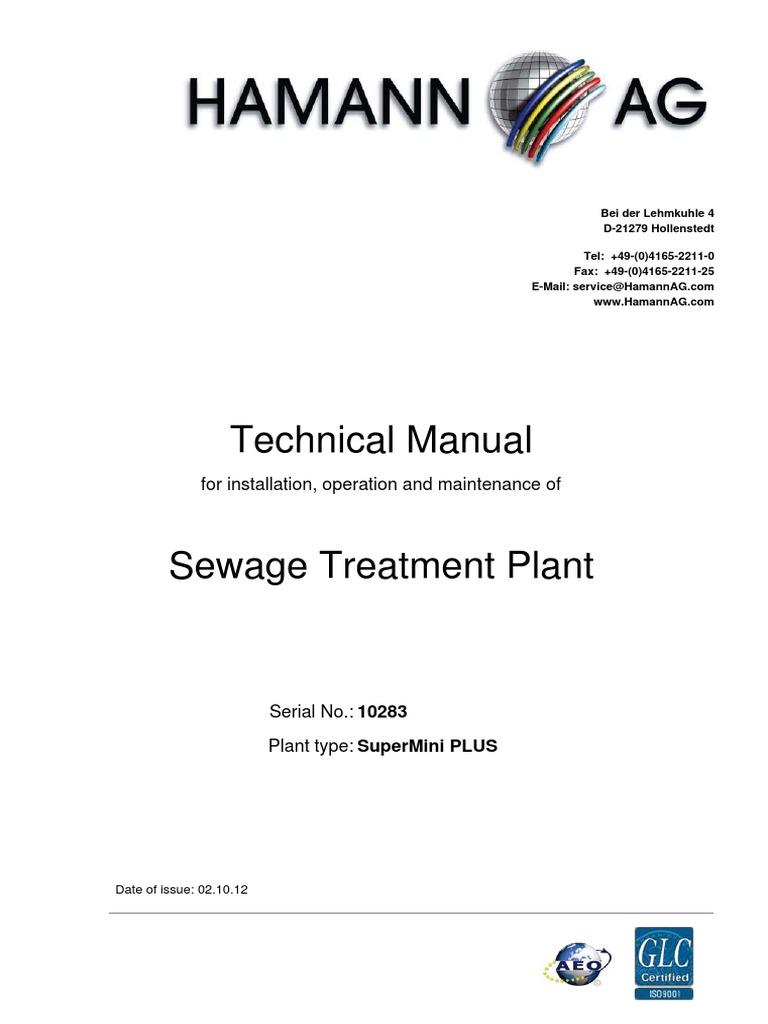 Planta Hamann Sewage Treatment Pump Piping Instrumentation Diagram Water Plant
