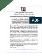 Amparo de García, 4 Resoluciones Judiciales y Nota de Prensa