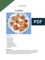 Resetas de Quinua 2013