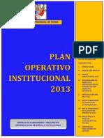 Plan Operativo - Exposición