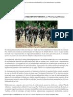 El Plan Renacer de Las Farc LA SEGUNDA INDEPENDENCIA, Por Plinio Apuleyo Mendoza _ Ideas de Babel