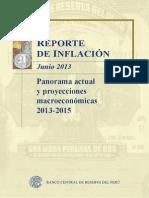 Reporte de Inflacion Junio 2013