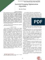 BFO Survey of Bacterial Foraging Optimization