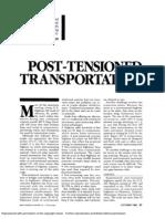 Post Tensioned Transportation