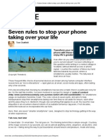 Future Seven Rules to Stop Your Phone Taking Over Your Life