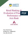 Axis Bank Dissertation