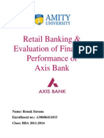 Axis Bank Dissertation