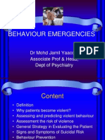 Behavior Emergencies