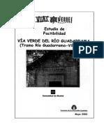 Estudio de factibilidad Vía Verde del río Guadarrama. Tramo río Guadarrama a Villamanta