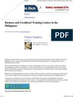 Business and Livelihood Training Centers in the Philippines