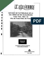 Estudio de factibilidad Vía Verde del río Guadarrama. Tramo Villa del Prado y Aldea del Fresno