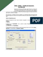 Cartilla de Impresion Confidencial Lexmark X642e