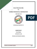 Olga Tellis V State of Maharashtra