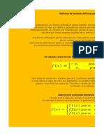 Definicon de Funciones Defininas Por Secciones