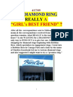 IS a DIAMOND RING REALLY a GIRL's BEST FRIEND ?  by Vanderkok