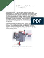 Description of a Hydroelectric Turbine Generator