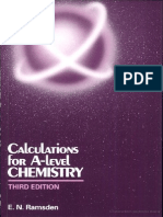 0748758399 Calculations for a-Level Chemistry