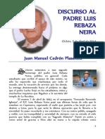 Discurso Al Padre Luis Rebaza Neira