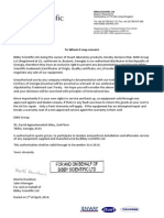 Bibby Scientific Ltd - Authorisation Letter