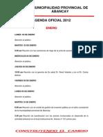Agenda Oficial 2012