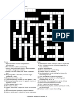 Literary Terms Crossword Puzzle 1 2014
