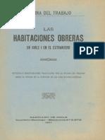 Oficina Del Trabajo - Las Habitaciones Obreras en Chile i en El Extranjero