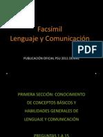 Facsímil Prueba Lenguaje y Comunicación Sección 1