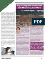 Propuestas para la erradicación de la minería ilegal en el Perú