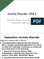 Anxiety Disorder- DSM 5