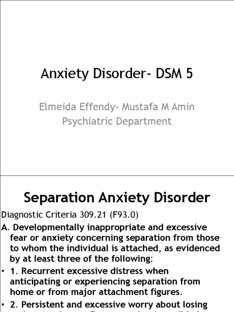 Anxiety Disorder- DSM 5 | Trastorno de ansiedad ...