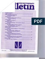 Psychotherapy Bulletin (27(4) Winter 1992-1993