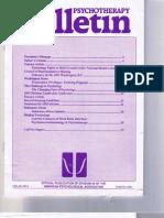 Psychotherapy Bulletin 28(1) Spring 1993