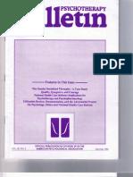 Psychotherapy Bulletin 28(2) Summer 1993