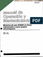 Manual Operacion Mantenimiento Motores Gas g3600 Caterpillar