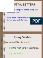 Capitals How and When