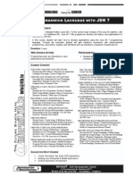 Syllabus - Java Programming Language With JDK 7