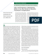 Am J Psychiatry 2010; 167 892–897 manejo de TAB en el embarazo Clinical Cas Conference