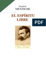 Nietzsche - El espíritu libre