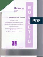 Psychotherapy Bulletin 30(3) Fall 1995